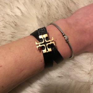Tory Burch Reversible Leather Wrap Bracelet